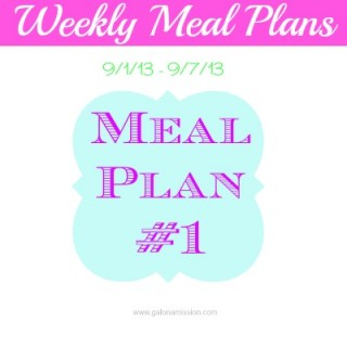 Meal Plan #1: 9/1/13 – 9/7/13 {THM}