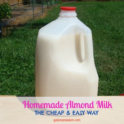 Homemade Almond Milk {the cheap & easy way}