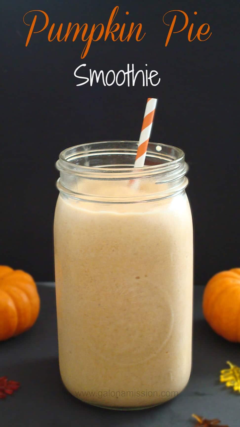 Pumpkin Pie Smoothie #Pumpkin #Sugar-Free #Dairy-Free #S #Yummy #Smoothies