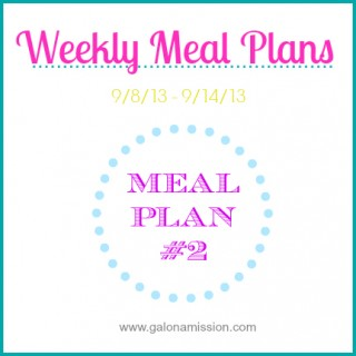 Meal Plan #2: 9/8 – 9/14 {THM}