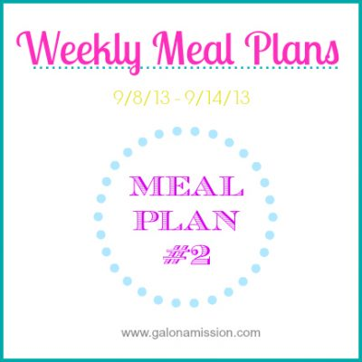 Meal Plan #2: 9/8 – 9/14 {THM}