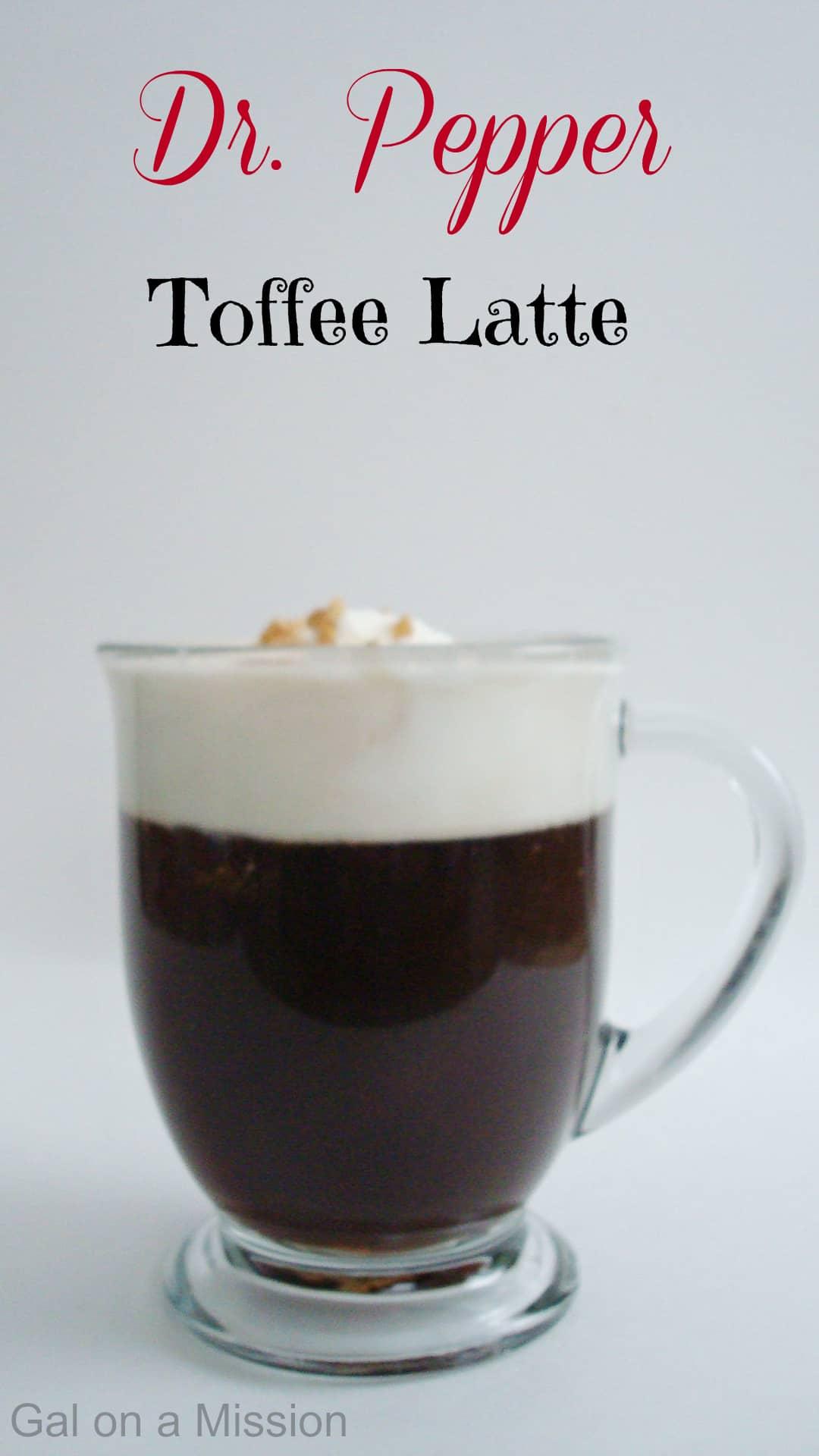 Dr. Pepper Toffee Latte #Warm #Soda #Yummy #Drink #Latte
