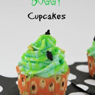 Green Slimy & Buggy Cupcakes