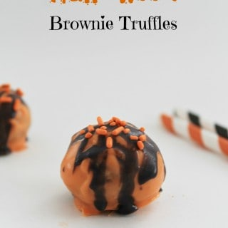 Halloween Brownie Truffles