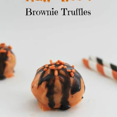Halloween Brownie Truffles #Halloween #Chocolate #Desserts #Cute