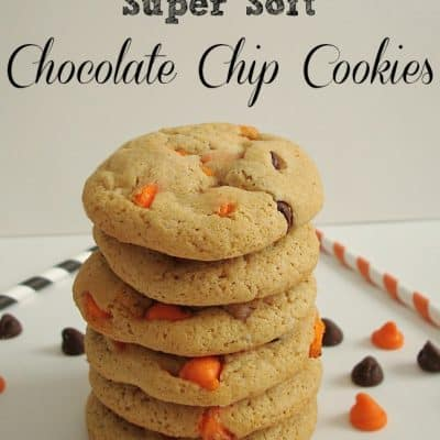 Halloween Super Soft Chocolate Chip Cookies #Halloween #Fall #Cookie #Chocolate #yummy