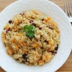 Quinoa Salad with Butternut Squash & Dried Cranberries