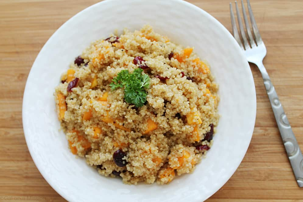 Quinoa Salad With Butternut Squash, Dried Cranberries ...
