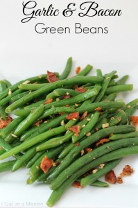 Garlic & Bacon Green Beans #Sides #Yummy #Fresh #Bacon