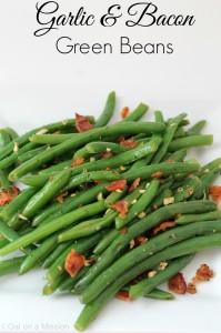 Garlic & Bacon Green Beans #Sides #Yummy #Fresh #Bacon