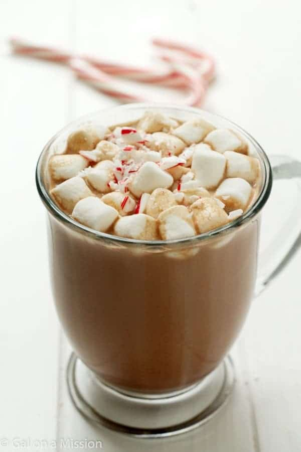 An out-of-this-world delicious peppermint hot chocolate recipe ...