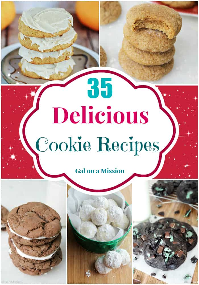 35 Delicious Cookie Recipes Round-Up
