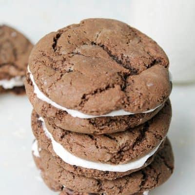 Chocolate Sandwich Cookies #10DaysofCookies