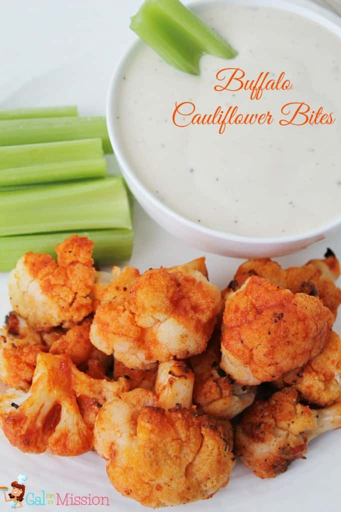 Healthy Buffalo Cauliflower Bites - Gal on a Mission