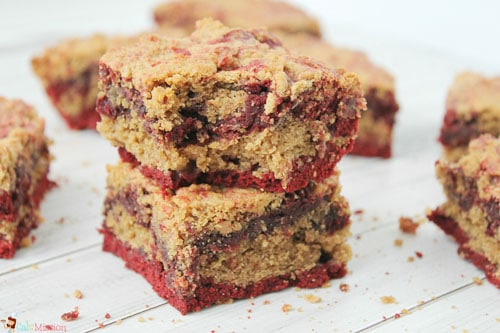 Peanut Butter Cookie Red Velvet Brownies