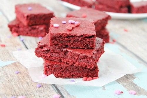 Red Velvet Brownie Bites Gal On A Mission