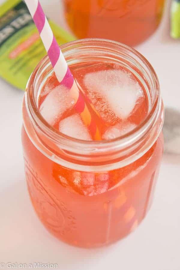 Homemade Strawberry-Green Tea Soda on galonamission.com