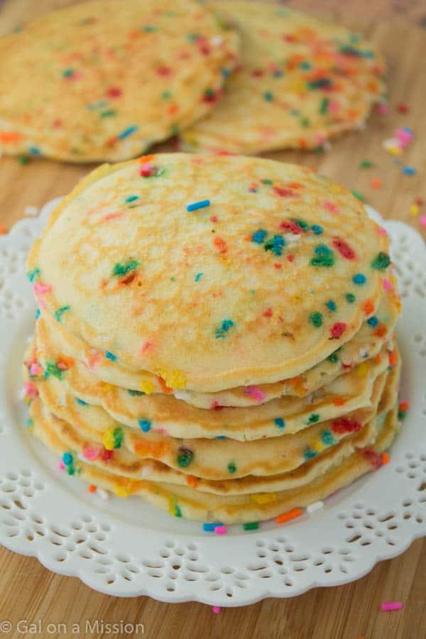 Funfetti Pancakes - Gal on a Mission