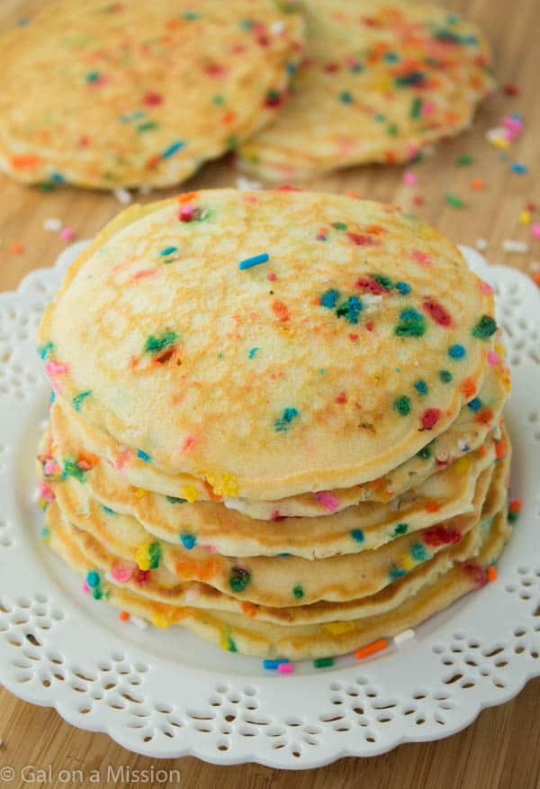 Funfetti Pancakes - Gal on a Mission