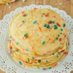 Delicious and Fluffy Funfetti Pancakes | Recipe on galonamission.com