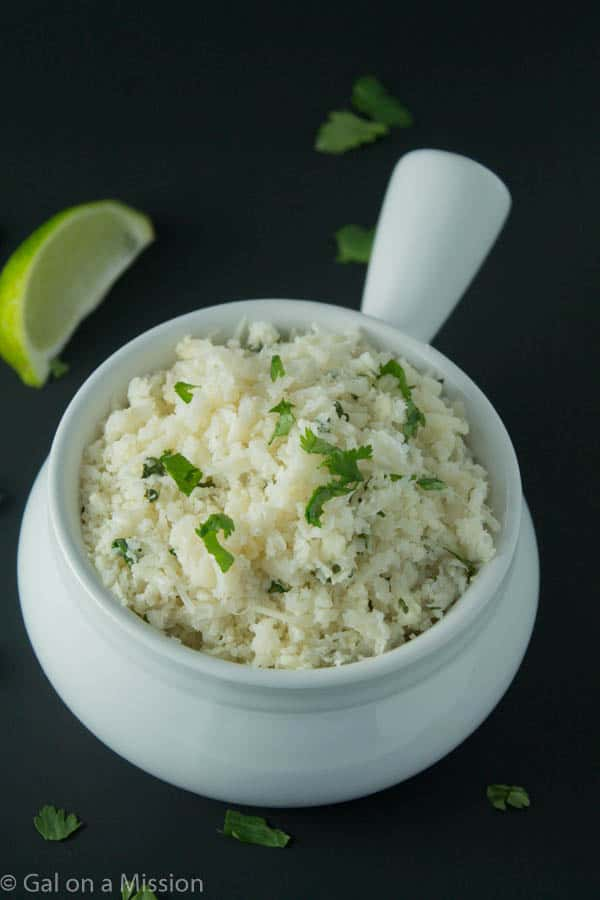 A scrumptious and authentic Paleo Chipotle Cilantro Lime Rice Recipe | galonamission.com