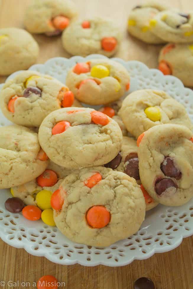 Soft-Baked Reese's Pieces Cookies   Recipe on galonamission.com