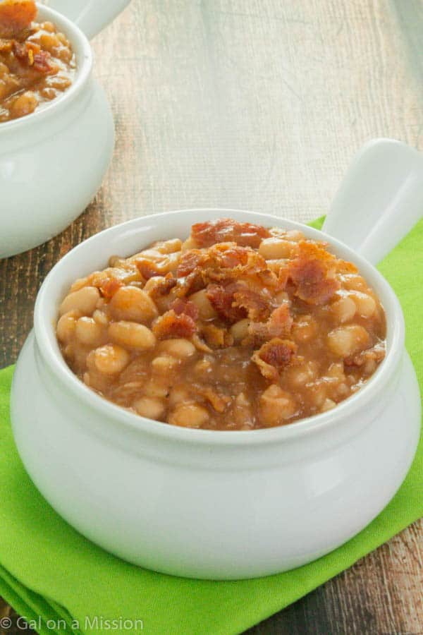 A delicious Homemade BBQ Baked Beans Recipe on galonamission.com