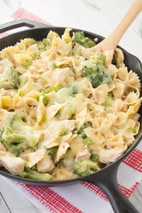 Chicken Broccoli Pasta Skillet Casserole