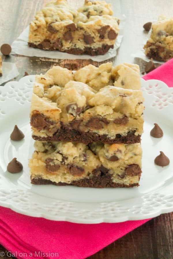Mouthwatering Cookie Dough Brownie Bars