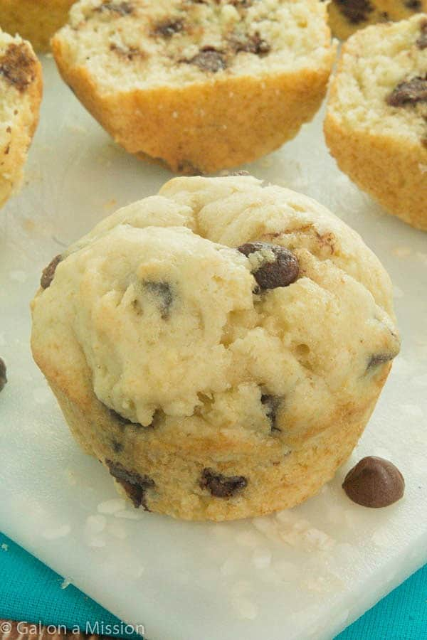 Easy Chocolate Chip Muffins Recipe - So moist and delicious!