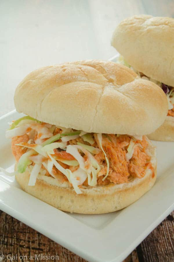 An easy and delicious Slow Cooker Buffalo Chicken Sandwich Recipe on ...
