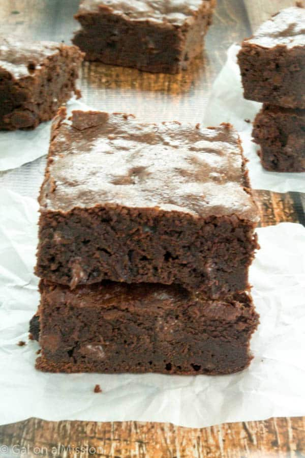Thick and Chewy Fudgy Brownies
