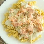 Creamy Grilled Salmon Pasta