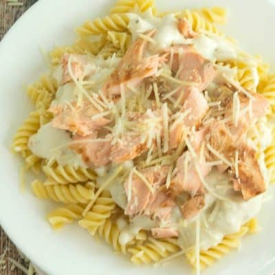 Creamy Grilled Salmon Pasta