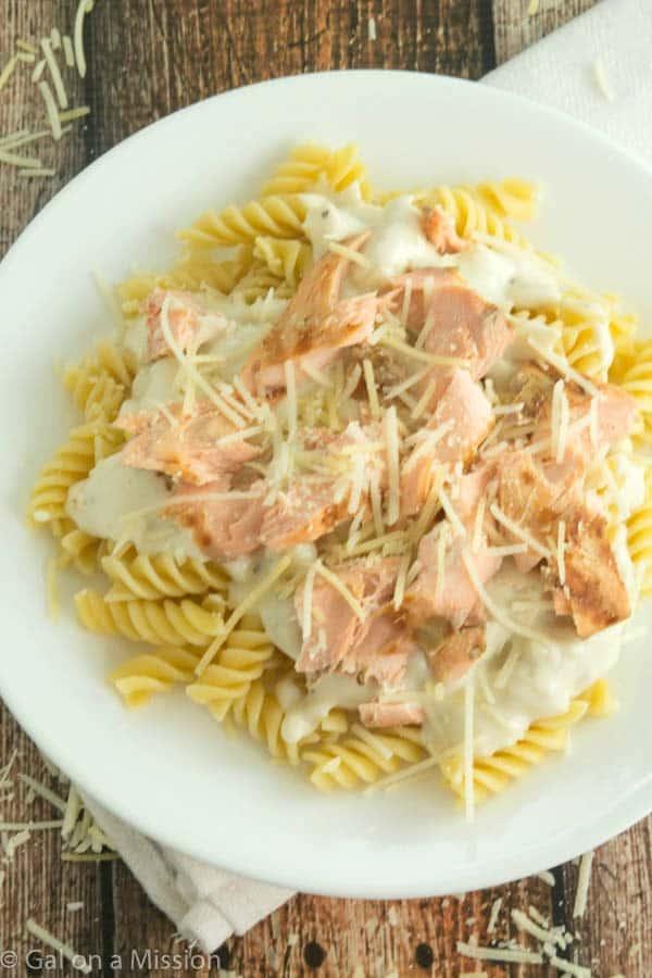 Creamy Grilled Salmon and Pasta Recipe-10