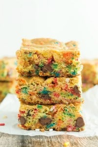 Funfetti Cake Mix Cookie Bar Recipe