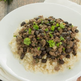 Spicy Ground Beef and Beans with Rice