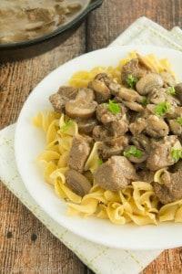 Healthier Beef Stroganoff | Comfort food at its finest!