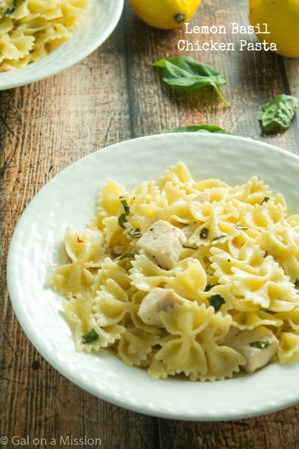 A delicious Lemon Basil Chicken Pasta Recipe from @galmission
