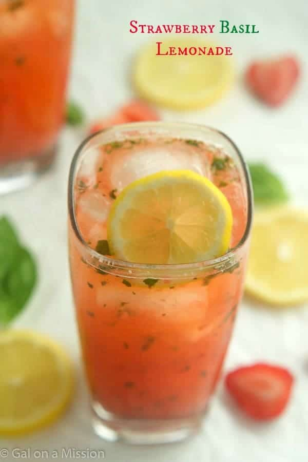 Refreshing Strawberry Basil Lemonade! You'll be making it all the time!