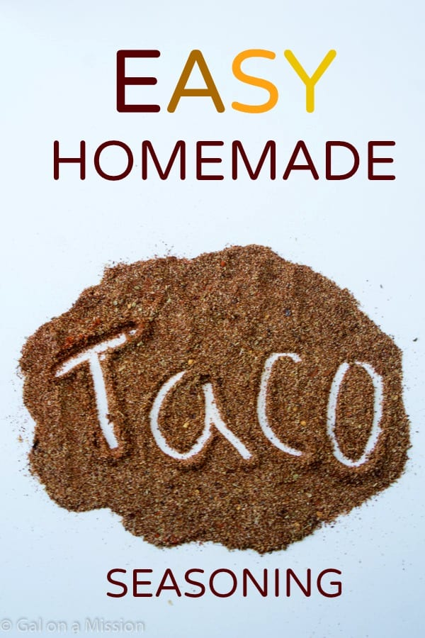 Homemade Taco Seasoning from @galmission #homemade #tacos