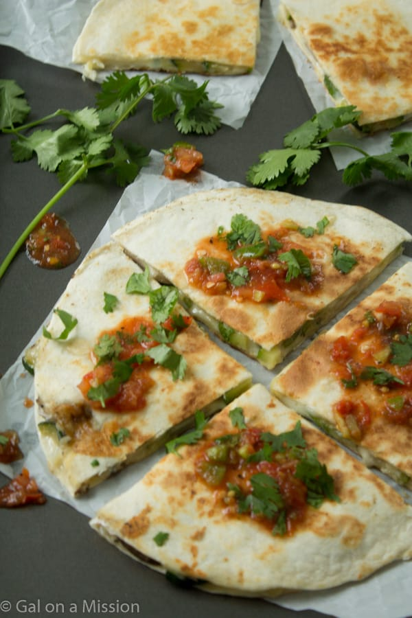 Mouthwatering Mushroom Zucchini Quesadillas from @galmission