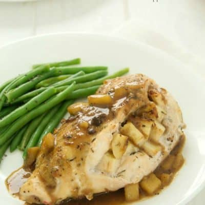 Apple Stuffed Chicken Breasts w/ Sweet Apple Glaze