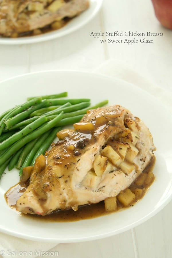 An amazing Apple Stuffed Chicken Breast Recipe via @galmission