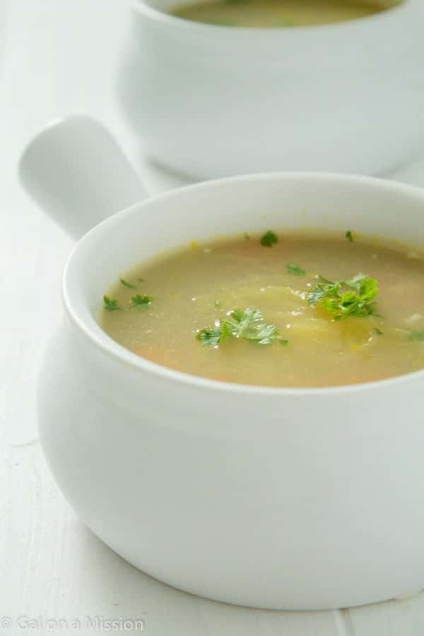 """A delicious Chicken """"Noodle"""" Soup that is Paleo and Whole 30 Friendly! via @galmission"""