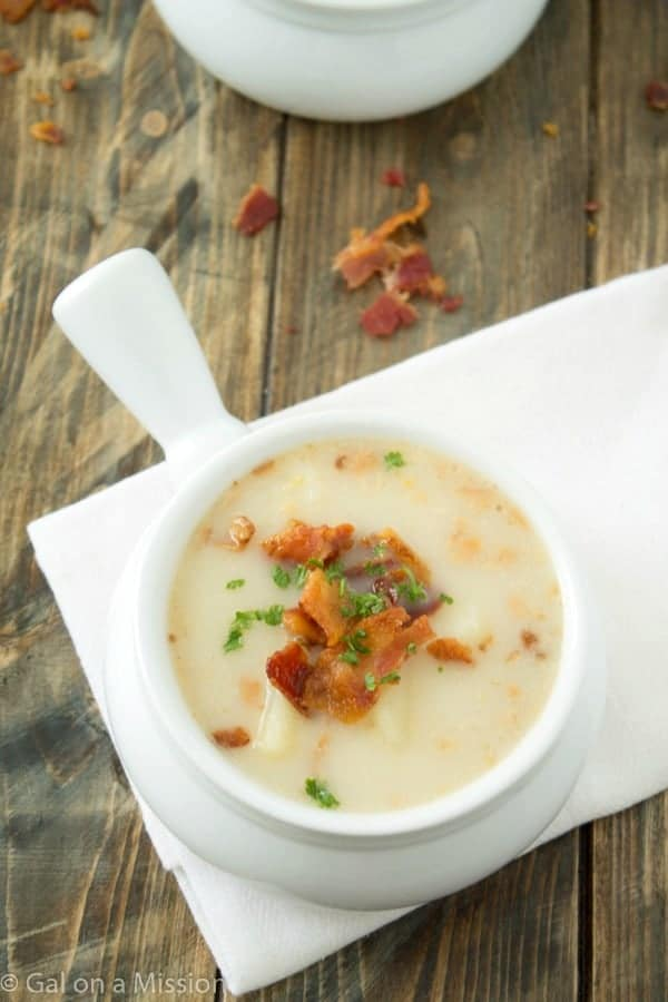 Dairy-Free Potato Soup from @galmission #dairyfree #soup