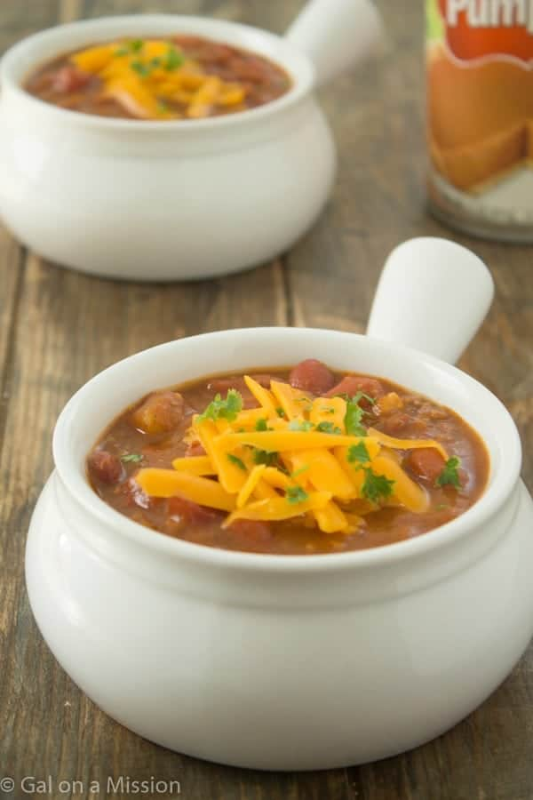 Pumpkin Chili from @galmission #pumpkin #chili