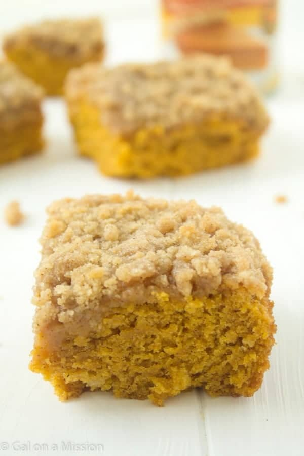 Delicious Pumpkin Coffee Cake Recipe via @galmission