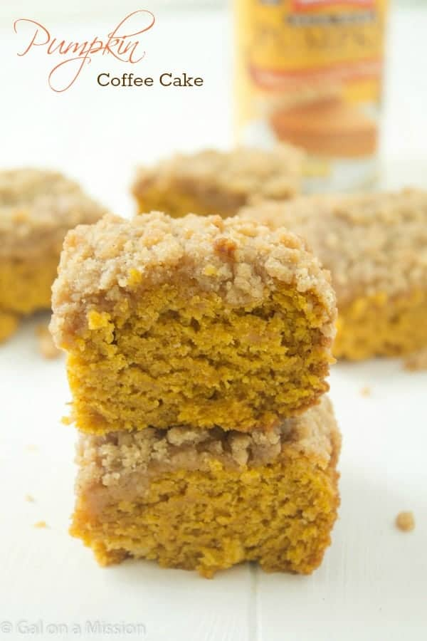 Delicious Pumpkin Coffee Cake Recipe via @galmission