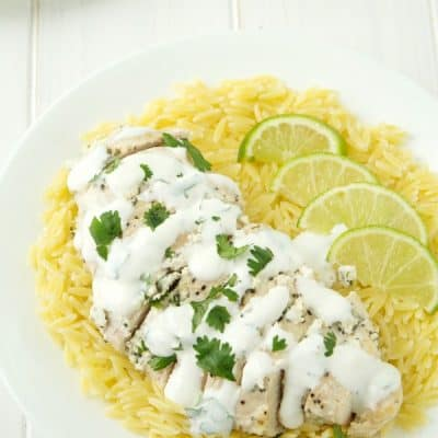 Baked Cilantro-Lime Sour Cream Chicken